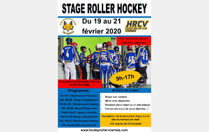 Stage Roller Hockey hiver 2020